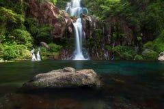 Cascata di Les Cormorans in San-Gilles su Reunion Island fotografia stock libera da diritti