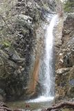 Cascata di Millomeri vicino a Platres nel Troodos cyprus Immagine Stock