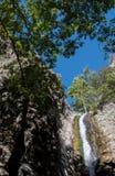 Cascata di Millomery, montagne Cipro di Troodos Fotografie Stock Libere da Diritti