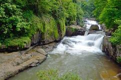 Cascata di Nang Rong nel parco nazionale di Khao Yai, Nakhon Nayok, Tailandia Fotografia Stock Libera da Diritti