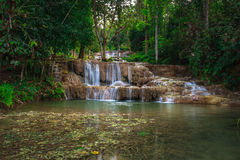 Cascata di Ngao, lampang, Tailandia Immagini Stock