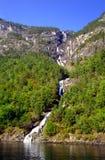 Cascata di Nordheimsdalen Immagine Stock