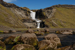 Cascata di Ofaerufoss Immagine Stock