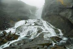 Cascata di Ofaerufoss in canyon di Eldgja Immagine Stock