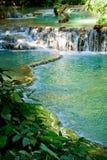 Cascata di paradiso nel Laos Fotografie Stock