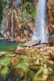 Cascata di Parida (Cachoeira da Parida) - Serra da Canastra Fotografie Stock
