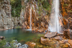Cascata di Parida (Cachoeira da Parida) - Serra da Canastra Immagini Stock Libere da Diritti