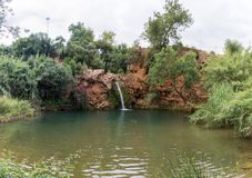 Cascata di Pego fare inferno vicino a Tavira fotografia stock