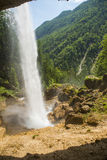 Cascata di Pericnik, Slovenia Fotografia Stock