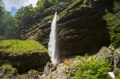 Cascata di Pericnik, Slovenia Immagini Stock Libere da Diritti
