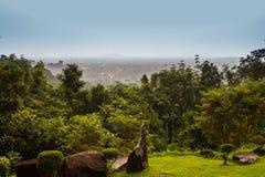 Cascata di Phliu di vista superiore Fotografia Stock