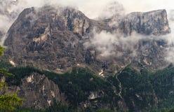 Cascata di Pisciadu in supporto di Sella Fotografia Stock