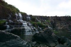 Cascata di Pongour, città di Dalat, del sud del Vietnam Fotografia Stock Libera da Diritti