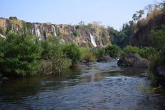 Cascata di Pongour nella provincia di Lam Dong, Vietnam Fotografie Stock Libere da Diritti
