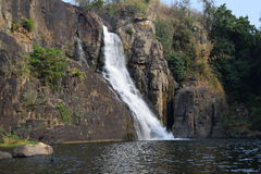 Cascata di Pongour nella provincia di Lam Dong, Vietnam Immagine Stock Libera da Diritti