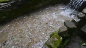 Cascata di punto della scala in Gelendzhik stock footage