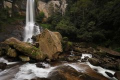 Cascata di Ramboda a Kandy nello Sri Lanka Fotografia Stock