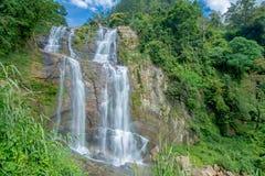 Cascata di Ramboda nello Sri Lanka Immagine Stock