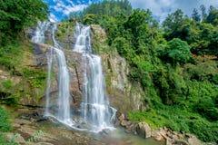 Cascata di Ramboda nello Sri Lanka Immagini Stock Libere da Diritti