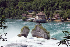 Cascata di Rheinfall Immagini Stock Libere da Diritti