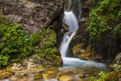 Cascata di Rio Arno nell'Abruzzo Immagine Stock