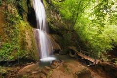 Cascata di Ripaljka, montagna di Ozren, Sokobanja, Serbia Fotografie Stock