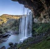 Cascata di Salto Ventoso - Farroupilha, Rio Grande do Sul, Brasile Immagine Stock Libera da Diritti