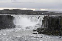 Cascata di Selfoss nel parco nazionale di Jokulsargljufur, Islanda immagine stock libera da diritti