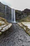 Cascata di Seljalandsfoss fotografia stock libera da diritti