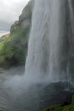 Cascata di Seljalandsfoss in Islanda Immagine Stock