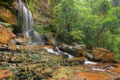 Cascata di Seri Mahkota Endau Rompin Pahang, Malesia Fotografia Stock