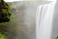 Cascata di Skogafoss, Islanda Immagini Stock Libere da Diritti