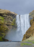 Cascata di Skogafoss, Islanda Fotografia Stock Libera da Diritti