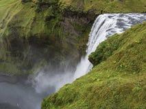 Cascata di Skogafoss, vista superiore, Islanda fotografia stock