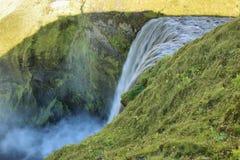Cascata di Skogarfoss, Islanda Fotografia Stock Libera da Diritti