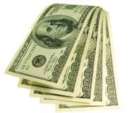 Cascata di soldi Fotografie Stock