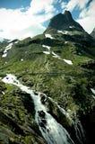 Cascata di Stigfossen (Norvegia) Fotografia Stock