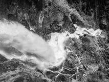 Cascata di Stuiben in alpi austriache Fotografia Stock Libera da Diritti