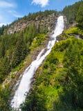 Cascata di Stuiben in alpi austriache Immagine Stock Libera da Diritti