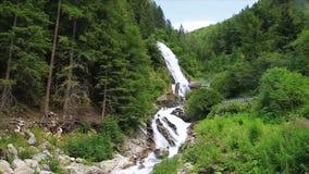 Cascata di Stuiben nel Tirolo stock footage