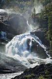 Cascata di Tveitafossen (Norvegia) Immagine Stock