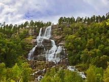 Cascata di Tvinde - Norvegia Fotografia Stock Libera da Diritti