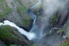 Cascata di Voeringfossen Fotografia Stock Libera da Diritti