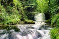 Cascata di Watersmeet, Exmoor immagine stock libera da diritti
