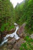 Cascata di Wodogrzmoty Mickiewicza in montagne di Tatra Fotografia Stock Libera da Diritti