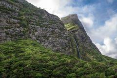 Cascata do Poço κάνετε Bacalhau, ένας καταρράκτης στο νησί ο των Αζορών Στοκ Φωτογραφία