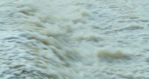 Cascata dopo la diga stock footage