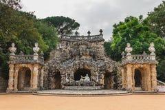 Cascata dos Poetas -诗人瀑布,P的候爵的宫殿 免版税库存图片