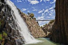 Cascata e canyon Fotografie Stock