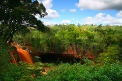 Cascata e caverna Fotografia Stock